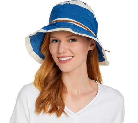 San Diego Hat Co. Ribbon Sun Hat with Pleated Brim