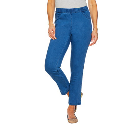 C. Wonder Petite Stretch Denim Pull-On Ankle Jeans