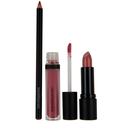bareMinerals Statement- Worthy 3-pc Lip Wardrobe