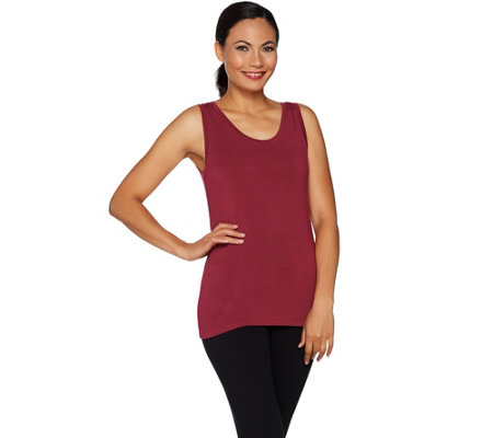 Cuddl Duds Softwear Stretch Reversible Scoop Crew Tank