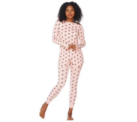 """As Is"" Anybody Loungewear Cozy Knit Waffle Pajama Set"