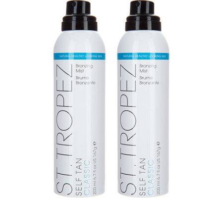 St Tropez Set Of 2 Deluxe Self Tanning Mists With Mitt Auto Delivery