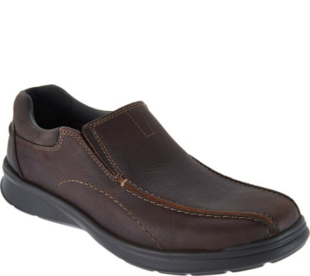 Clarks Men S Leather Slip On Shoes Cotrell Step