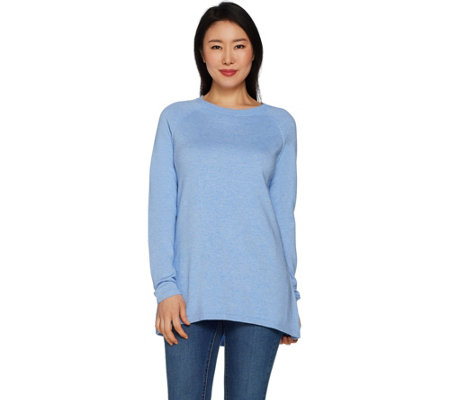 Martha Stewart Raglan Sleeve Hi-Low Hem Sweater Tunic