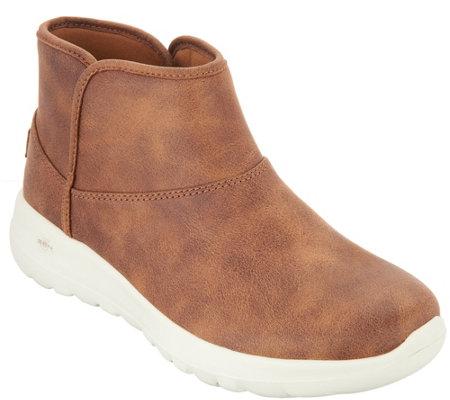 3a58b9f80ab5f Skechers Go Walk Joy Slip-on Chugga Boots - Harvest - Page 1 — QVC.com
