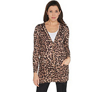 Lisa Rinna Collection Printed Button Front Boyfriend Cardigan - A345878
