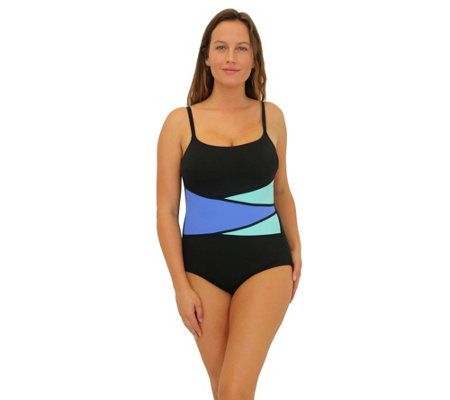 Fit 4 Ur Long Torso Color Blocked Mock Wrap Tan k