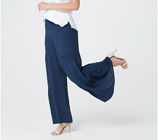 G.I.L.I. Regular Pull-On Tiered Wide Leg Pants