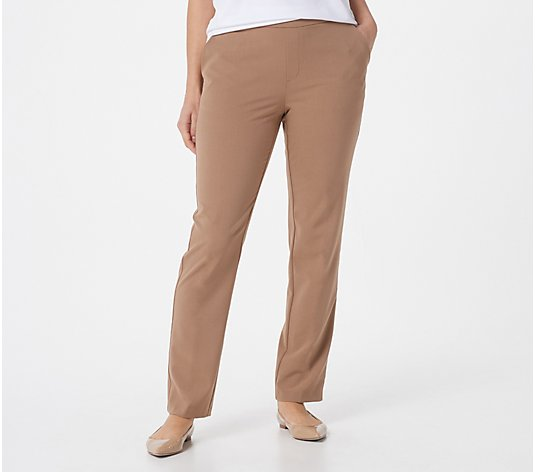 GRAVER Susan Graver Petite Chelsea Stretch Pull-On Pants