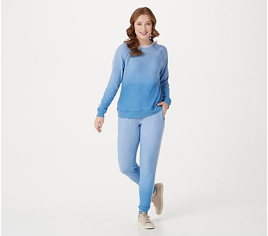 Splendid Ombre French Terry Pullover and Jogger Set
