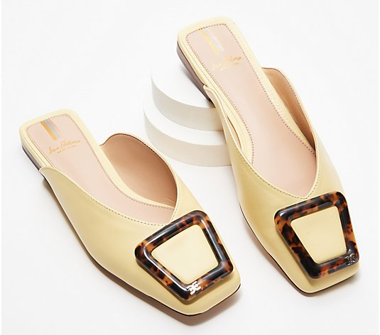Sam Edelman Leather Buckle Mules - Lavina