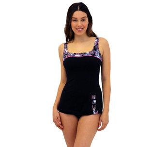 ce61043406115 Fit 4 U C s Retro Sheath One Piece Swimsuit - A425878