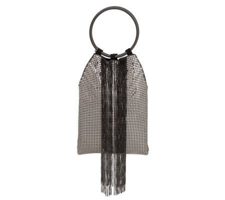 Whiting & Davis Cascade Chain Link Fringe SmallHandbag
