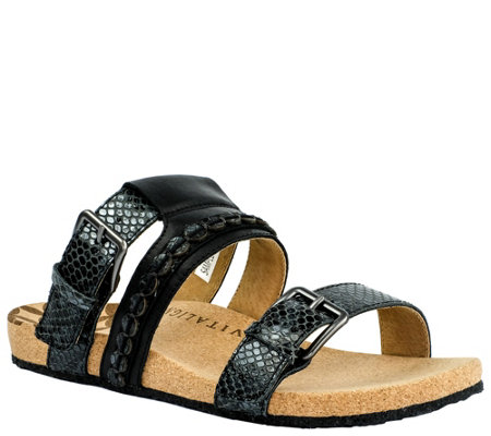 Revitalign Slip On Leather Sandals Sofia