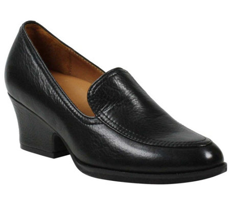 L'Amour Des Pieds Slip-On Leather Mid-Heel Pumps - Jokul