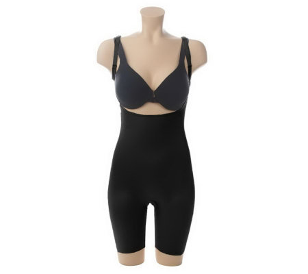 2d266c3b1ebee Spanx Slimplicity Open Bust Mid-Thigh Bodysuit - Page 1 — QVC.com