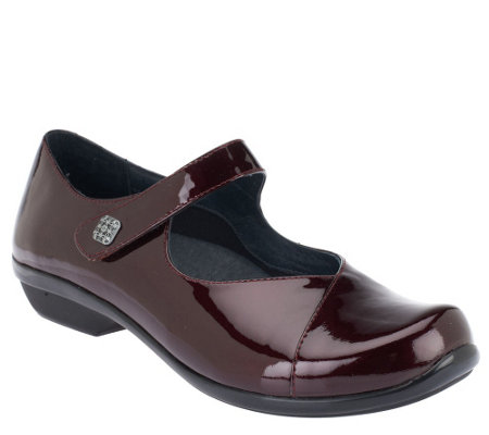 Dansko Leather Mary Janes with Button - Opal