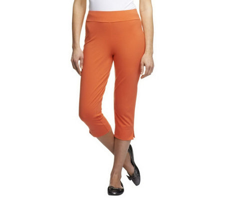 """As Is"" Women with Control Contour Waist Pull-on Capri Pants"