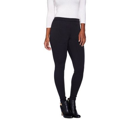 H by Halston Classic Ribbed Leggings