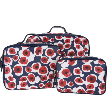 Hudson Bleecker Savannah Poppy Set Of Three Packing Cubes