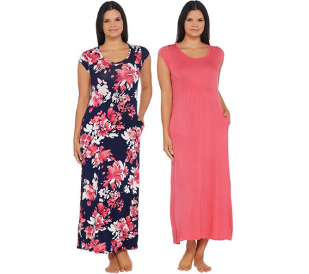 Carole Hochman Romantic Bouquet Rayon Spandex 2 Pack Dress Set