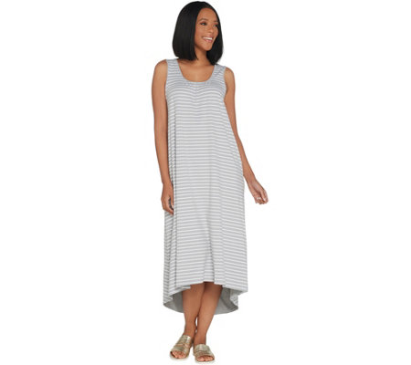 Cuddl Duds Flexwear Petite Cross Back Maxi Dress