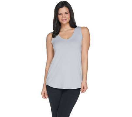 Cuddl Duds Flexwear V-neck Tank Top