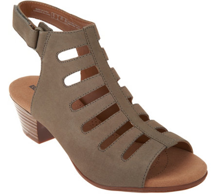 Clarks Leather Peep Toe Cut-out Sandals - Valarie Shelly - Page 1 ...