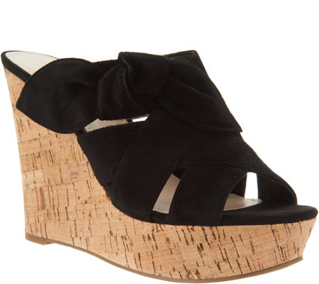 Marc Fisher Suede Bow Wedges - Hobby