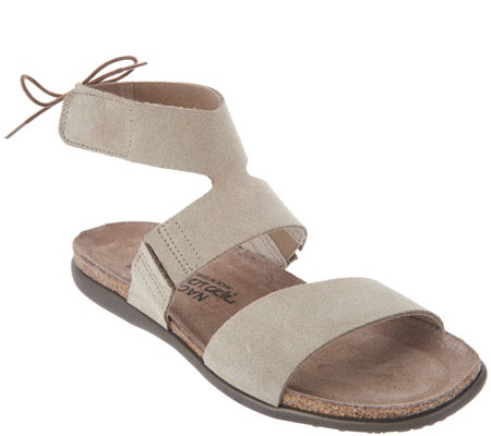 Naot Leather Tie Back Sandals - Larissa