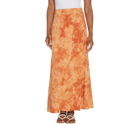 Belle by Kim Gravel TripleLuxe Knit Tie Dye Maxi Skirt