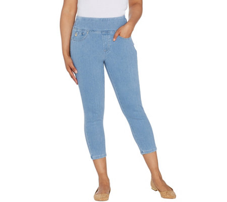 Belle By Kim Gravel Flexibelle Cropped Jegging W Back Pockets