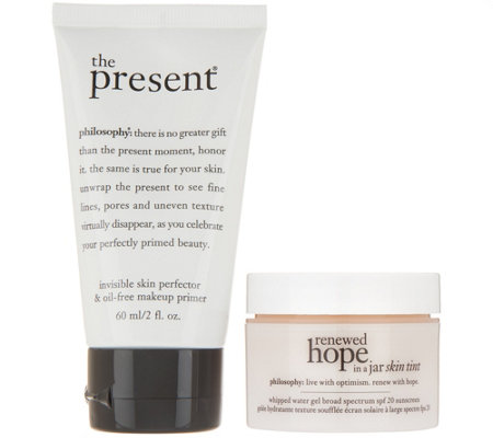 philosophy renewed hope skin tint spf & the present perfecting duo