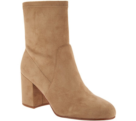 """As Is"" Marc Fisher Faux Suede or Velvet Ankle Boots- Ileesia"