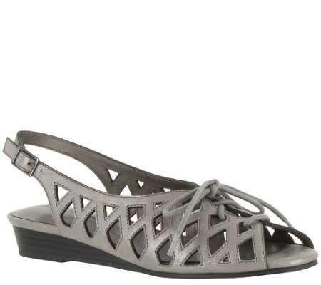 Easy Street Lace-up Wedge Sandals - Tinker
