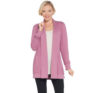 Heavenly Jersey Long-Sleeve Open Front Cardigan - A346279