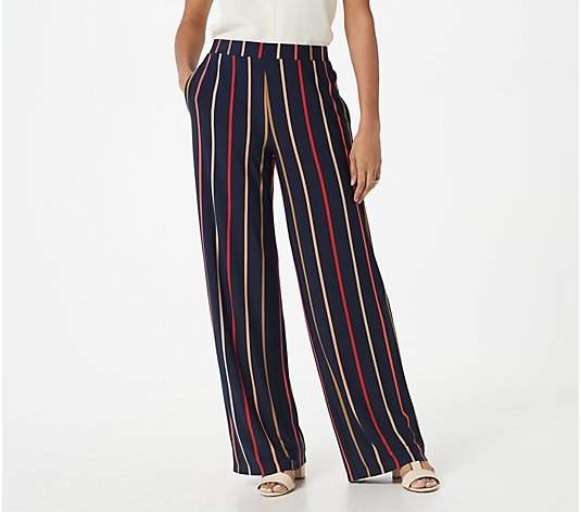 Susan Graver Regular Printed Liquid Knit Pull-On Pants