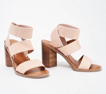 8c3bbddd072 Franco Sarto Leather Heeled Sandals- Dear - A351979