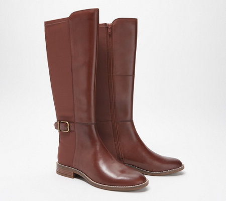 Clarks Collection Medium Calf Tall Boots - Camzin Tree