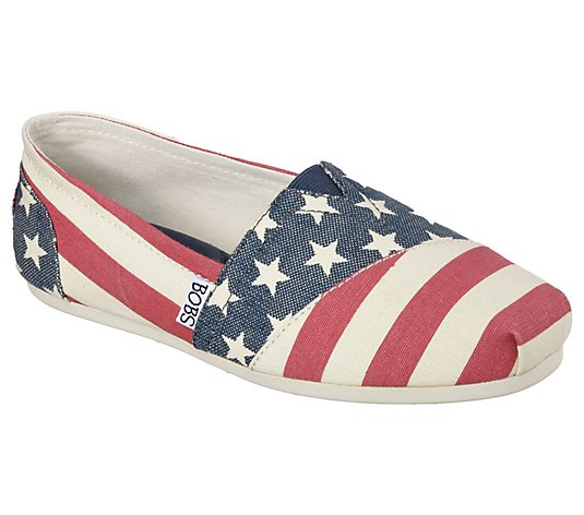 Skechers BOBs Plush Slip-On Shoes - Lil' Americana