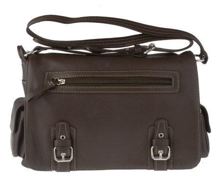 Aurielle Pebble Leather Organizer Flap Bag