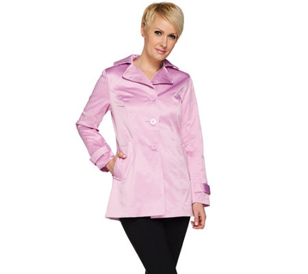Joan Rivers Cotton Sateen Swing Jacket