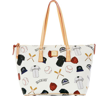 Dooney & Bourke MLB Rockies Zip Top Shopper