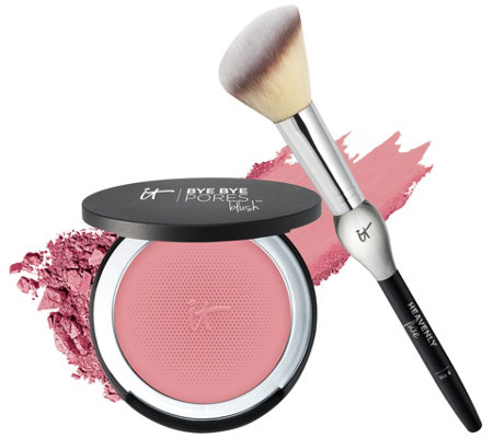 IT Cosmetics Bye Bye Pores Anti-Aging Silk Pressed Blush w/ Brush