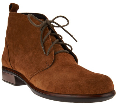 Naot Leather or Suede Lace-up Ankle Boots - Levanto