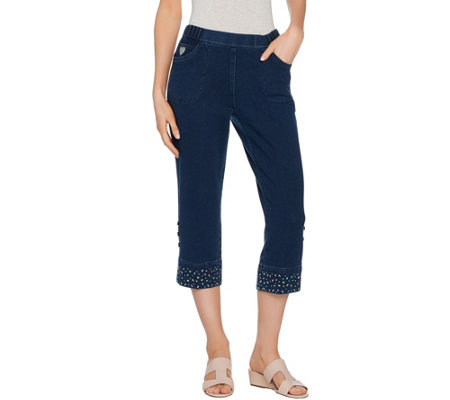 Quacker Factory DreamJeannes Convertible Capris with Embellishment