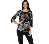 Susan Graver Printed Liquid Knit Bateau Neck Top - A298480