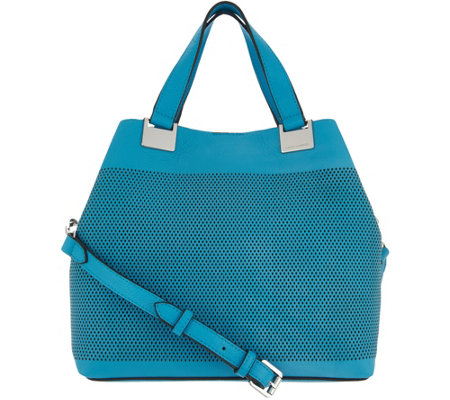 Vince Camuto Perforated Satchel Handbag - Beatt