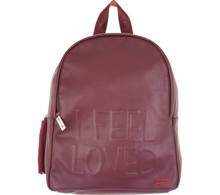Peace Love World Backpack with Affirmation