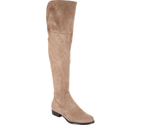 As Is Isaac Mizrahi Live Faux Suede Over The Knee Boots